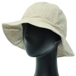 [더그레이]NKU29.린넨사파리 여성 벙거지 모자 버킷햇