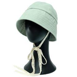 [더그레이]NHU06.벨라인리본 여성 벙거지 모자 버킷햇