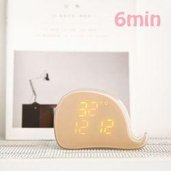 날짜 온도 소리센서가 있는 고래 알람 시계(선물포장)