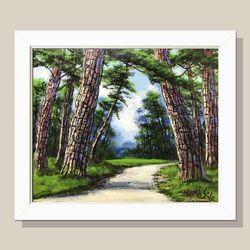 소나무그림 인테리어액자 개업선물 부자되는그림