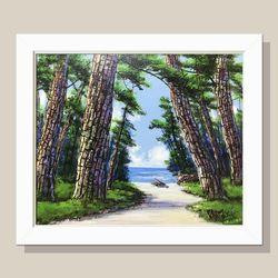 소나무그림 인테리어액자 거실그림 화가그림 그림선물