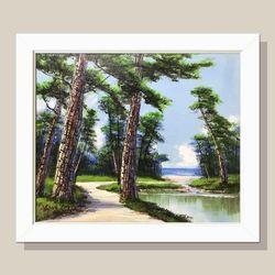 소나무그림 인테리어액자 거실그림 부자되는그림