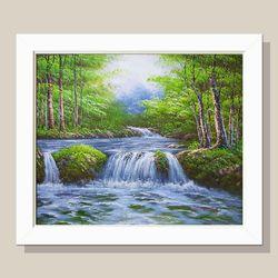 풍수지리 거실그림 소나무그림 물그림 돈들어오는그림