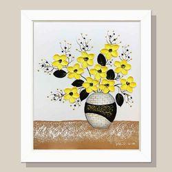 돈들어오는그림 황금꽃병 꽃그림 풍수지리 인테리어