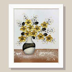 돈들어오는그림 황금꽃병 꽃그림 거실액자 유화그림