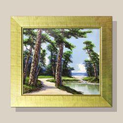 풍수지리 그림액자 소나무그림 물그림 부자되는그림