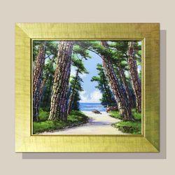 돈들어오는그림 소나무그림 물그림 화가그림 유화그림