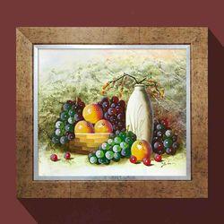 부자되는그림 풍요의과일 과일그림 유화그림 그림액자