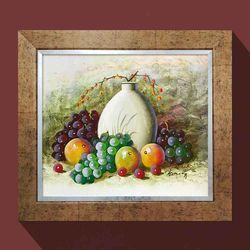 돈들어오는그림 풍요의과일 포도그림 유화그림