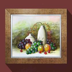 돈들어오는그림 풍요의과일 포도그림 과일 그림액자