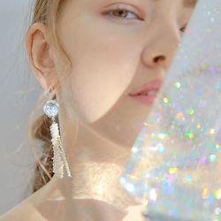 Jellyfish Snowball Earrings