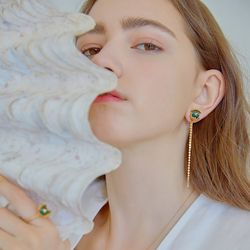 Shining Snowball Inside The Shell Earrings