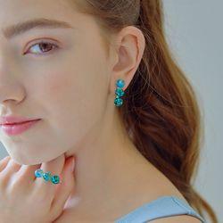 Triple Snowball Earrings