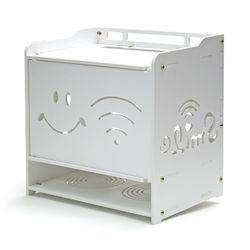 공유기 정리함 3단 - 셋톱박스 모뎀 멀티탭 수납장