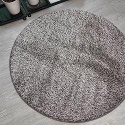 극세사 투톤트루 원형러그 거실카페트 (150x150)