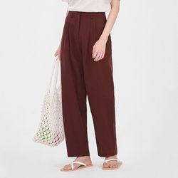 rouis pintuck linen slacks (s m)