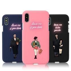 [Try]네온아저씨와소녀 소프트 케이스.아이폰7(8)플러스공용