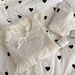 아일렛 레이스 파자마 잠옷