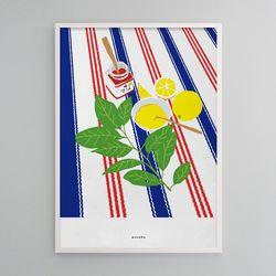 인테리어 디자인 포스터 M 레몬잼 딸기잼 A3(중형)