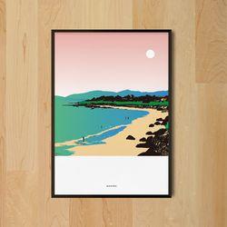 인테리어 디자인 포스터 M 제주도 해변 A3(중형)