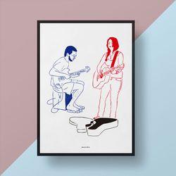 유니크 인테리어 디자인 포스터 M 버스킹 A3(중형)