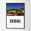 인테리어 디자인 포스터 M 서울의 밤 A3(중형)