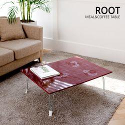 루트 로즈와인 하이글로시 다용도 상 테이블 600x400 소
