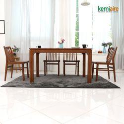 마로니에 4인용 원목식탁SET(의자형) KGD-402