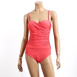 [비키로라] 원피스 수영복- 와이어 셔링 핑크 M8001