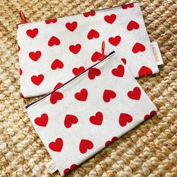 LOVELY RED HEART POUCH (Small)