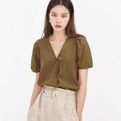unbalance puff blouse