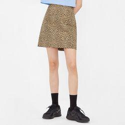 classy leopard mini skirt (s m)