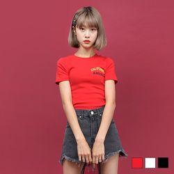 2225 켈리포니아 크롭 티셔츠 (3colors)