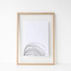 패브릭 투명액자 - 억새숲(pocheon) 32x44cm