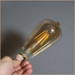 더쎈 에디슨 램프 LED 4W ST64 전구색 전구 골드 코팅