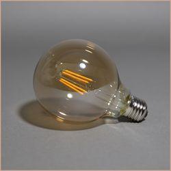 더쎈 에디슨 램프 LED 4W G95 전구색 전구 골드 코팅