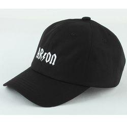 AC-018 arson LOGO BASEBALL CAP (BLACK)