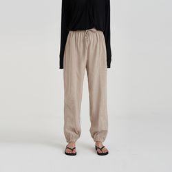 zipper free jogger pants (2colors)