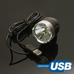 CREED L2 USB LED 자전거 외장형 라이트 - 주황색