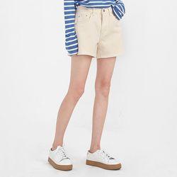 cream short pants (s m)