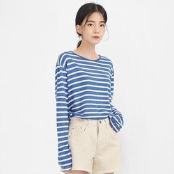 rolly linen stripe T