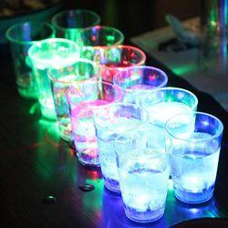 밑잔 깔면 반짝반짝 빛나는 LED소주잔 3세트