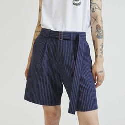 stripe belt shorts pants (2 color) - UNISEX