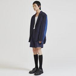 stripe denim jacket (2 color) - UNISEX