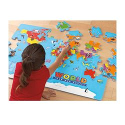 EDI4810 대형 세계 지도 퍼즐세계사교구