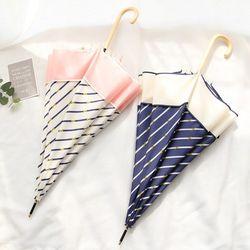 [무료배송] 비비드 스트라이프 여성 장우산 2type