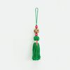 colorful wood tassel - green