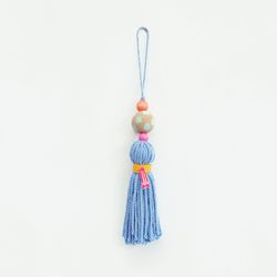 colorful wood tassel - sky