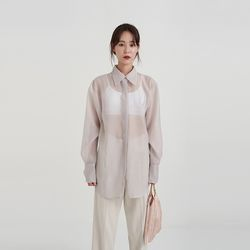 beyond see-through blouse (4colors)