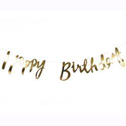 [생일 파티용품] 골드 생일가랜드